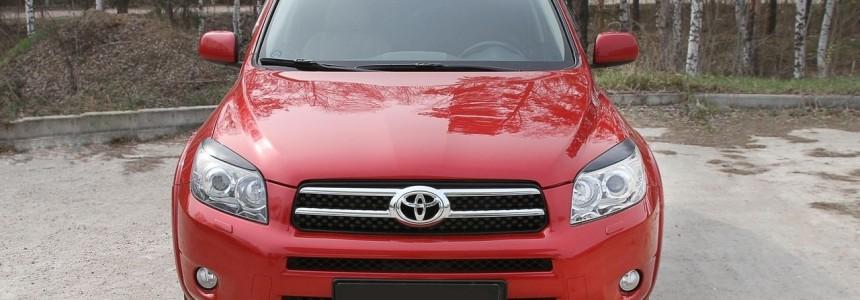 Реснички (под покраску) для Toyota Rav4 2006—2010